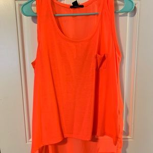 Coral Forever 21 high low tank